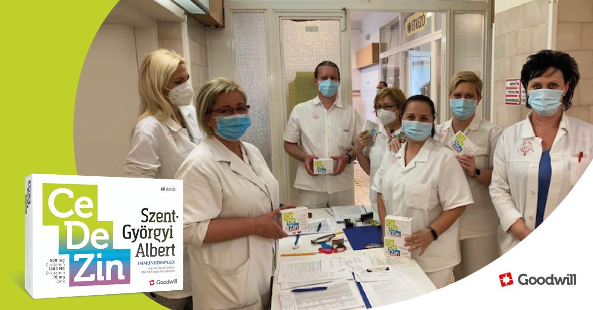 180 doboz immunkomplex vitamint adományoztunk Debrecenben